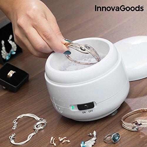 InnovaGoods Pulitore a Ultrasuoni per Gioielli, ABS/SS, Bianco, 12x 10x 12cm