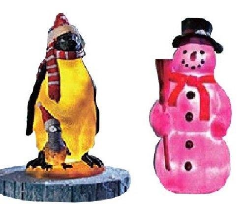 """Teich-Deko """"Pinguin"""" und' Schneemann'"""