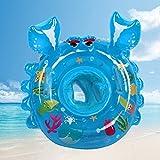 bestllin Schwimmen Ring Karton Krebse Baby Pool Float Sitz Boot mit Schwimmen Sicherheit Griffe Kinder Kleinkinder mit umweltfreundlicher Materialien (blau)