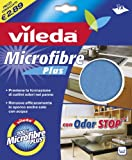 Vileda 141285 Panno Plus, 100% Microfibra, con Odor Stop, Altro, Multicolore, 19x23x0.2 cm 12 unità