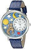 Whimsical Watches Unisex U1810001 Aquarius Royal Blue Leather Watch best price on Amazon @ Rs. 715