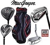 Macgregor Antwort Deluxe Herren Stahlschaft Golf Set & TP12018Cartbag Herren Rechte Hand
