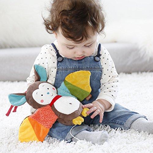 Fehn 067613 Spieluhr Fledermaus – Aufzieh-Spieluhr mit herausnehmbarem Spielwerk zum Aufhängen, Rascheln und Greifen, für Babys und Kleinkinder ab 0+ Monaten - 2