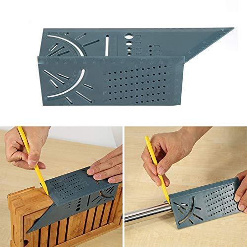Dastrues Angle d'onglet 3D, Outil de Mesure de Taille carrée avec règle