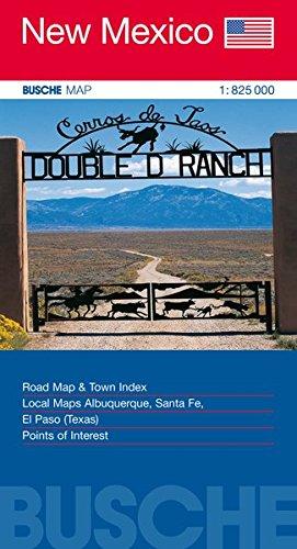 Albuquerque New Mexico (USA New Mexico: Busche Map Straßenkarte, 1:825 000 (Busche Map Straßenkarten / USA, Canada, Weltweit))