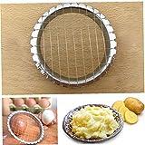 Bontand Edelstahlgewebe Form Rund Eierschneider Pilze Kartoffelschneider Chopper-küche-Werkzeug Kochen