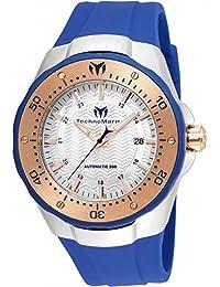 TECHNOMARINE MEN'S MANTA 48MM BLUE SILICONE BAND AUTOMATIC WATCH TM-215091