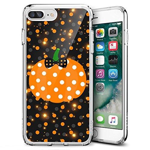 hone 7 Plus/iPhone 8 Plus, Sangkoo Halloween-Fledermaus-Schloss unter Mond, weiches TPU Gummi für iPhone 7 Plus (2016) & iPhone 8 Plus (2017), H-112 ()