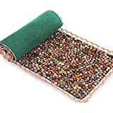 SLDAGe Reflexology Mat, Cobblestone Massage Cushion Pedicure Blanket for Foot Massage Relieve Fatigue Promote Blood Circulation,highdensity15.75x49.22inch