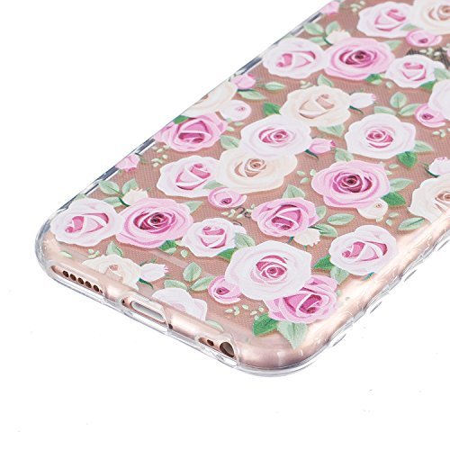 Sunroyal Hülle für iPhone 6/6S (4.7 inches) Silicone Case Cover, Scratch-resistant Ultra Slim TPU Case Cover Soft Protective with Pattern Design Transparent Soft silicone Cover Pattern 10