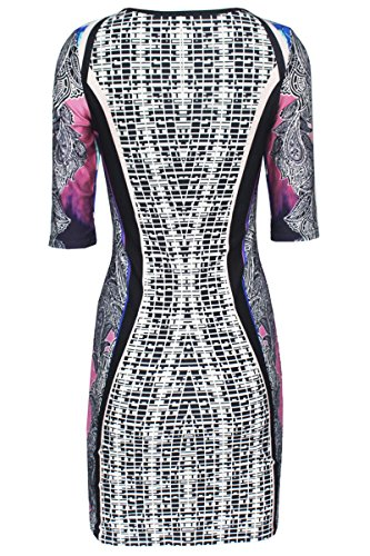 E-Girl D22223 femme mode robe mini Multicolore