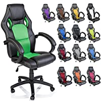 TRESKO Racing Style Gaming PU Leather Swivel Office Chair Computer Desk Chair