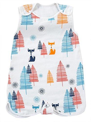 Feoya sacco a pelo bambino ragazzo ragazze coperta in cotone primavera estate pigiama da notte bambini pagliaccetto 18-36 mesi