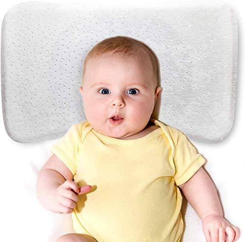 Orthopädisches Babykissen Gegen Plattkopf mit zwei Bezügen zur Heilung und Vorsorge der Plagiozephalie Orthopädisches Kissen-Perfect Head