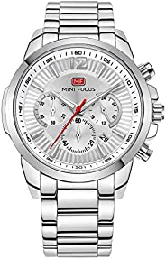 Mini Focus Mens Quartz Watch, Chronograph Display and Stainless Steel Strap - MF0087G.02