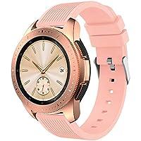 """samLIKE Pulsera de Silicona para Samsung Galaxy Watch 42mm–Transpirable Rayas Diseño Brazalete Deportivo Ajustable para Pulsera para Hombre y Mujer, 5.5""""DE 8.4, 10Colores, Color �� Rosa"""