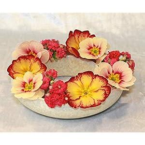 Blumenring Keramik weiße Kristallglasur, schöne Dekoraton – ideales Geschenk