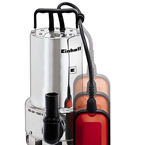 Einhell GC DP 1020 N   Bomba de aguas sucias  asa de transporte  caudal 18000 l/h  1000 W  230 V  color rojo y negro
