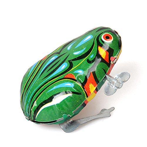 Zantec Kinder Vintage Clockwork Springende Frosch Metall Wing up Metall Spielzeug als Geschenke (Der Springende Frosch)