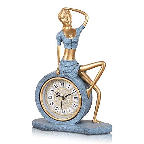 Breguht Continental Retro Clock Lady Wohnzimmer Schlafzimmer Bett Clock Pendel kreative Dekoration Sitzen, Golden Moneymodern Dekoration, Classic, langlebig, Retro, einfache und simple Home Fashion Qualitätssicherung