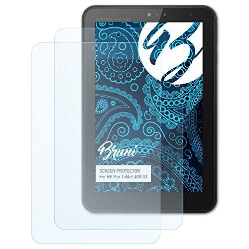 Bruni Schutzfolie für HP Pro Tablet 408 G1 Folie, glasklare Bildschirmschutzfolie (2X)