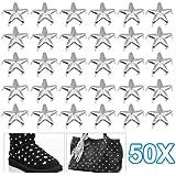 SODIAL(R) 50 x Remache Forma de Estrella - para Artesania de Cuero Vestido Bolsa Jeans Zapatos