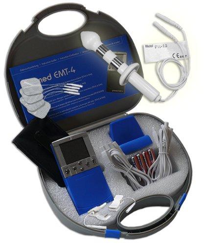 Inkontinenz-klemme (EMS/Tens 2-Kanal Reizstromgerät EMT-4 plus Analsonde PR-13 + Klemmen. Medizinprodukt für wirksame Schmerz- und Muskelbehandlung)