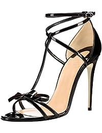 Calaier Mujer Cacatcaa Tacón De Aguja 12CM Sintético Hebilla Sandalias de vestir Zapatos