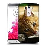 Just Phone Cases Schutz Hülle TPU Case Schutzhülle Silikon Tasche Dünn Transparent // V00004287 Katze liegend auf Holzbrettern // LG G3 VS985