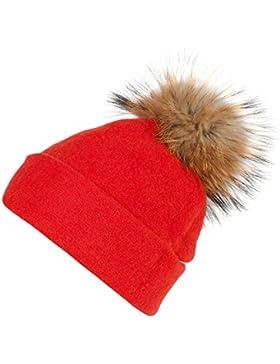 Roeckl Wollmütze mit Fellbommel, rot
