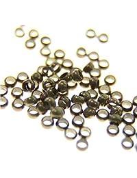 Perle à écraser Apprêts en Métal (Lot de 200 de couleur Bronze) 3mm de diamètre