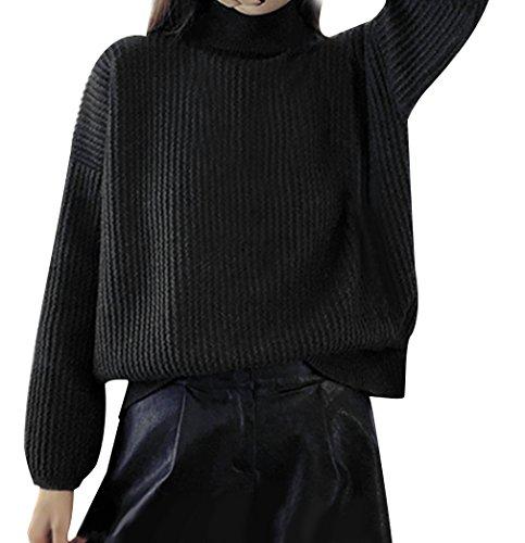 La Vogue-Maglioni da Donna Invernale Maglieria Slim Ragazza Pullover Busto 50cm Nero