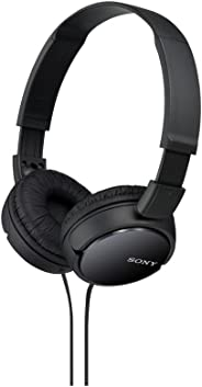 Sony MDRZX110LP/B On-the-Ear Light-Weight Headphones Without Mic - Black (Pack of1)