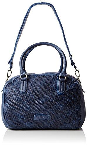 Liebeskind Berlin Damen Oitas7 Weave Henkeltasche, Blau (deep Water Blue), One Size