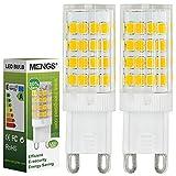 2pz MENGS Lampada LED 5W G9 LED 51x 2835 SMD Lampadina LED (Bianca Calda 3000k, 360 angolo, 480lm, AC 220 - 240V , 15 x 48mm) Lampadine a risparmio energetico