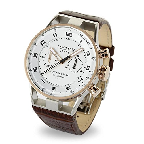 Watch Locman Montecristo 0514 V14-rnwkpsn Breaker Steel quandrante White Leather Strap