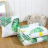 AILIN1 Weich dekorativ Jingshu Baumwolle Kissen Quilt Kissen faltbar Sommer cool mit dem Auto Rückenlehne Mittagspause Bettwäsche (Farbe: Grün, Größe: 40x40x105x55) für Heimstudien-Bettsofa