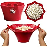 Convenient New Popcorn Maker Healthy Cooking Kitchen Accessories 1 Pcs Silicone Microwave Magic Popcorn Maker Popcorn Container Pack Of 1 (With Free Token)