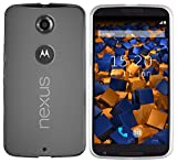 mumbi TPU Hülle kompatibel mit Motorola Nexus 6, klar weiß