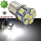 Ruiandsion 2 x 1156 LED Birne 5050 12 SMD Chipsets 12 V Weiß Autolampe Ersatz Lampe für Rückfahrlicht Blinker Rücklicht