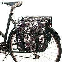 Beluko Alforjas dobles Bolsa de bicicletas de moda para mujeres - Hombres (CE-80 Lirio, Patrón completo)