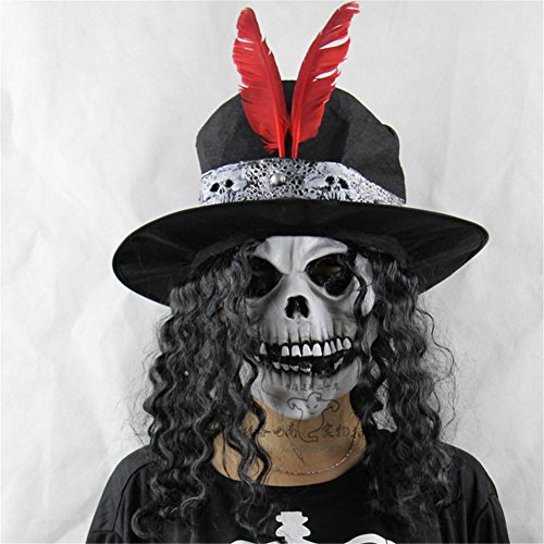 SQCOOL Perücken Earl Skull Maske Halloween Weihnachten Haunted Dress Up Tanz Requisiten (Perücke Haunted Kostüme)