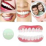 Carillas Dentales Dientes Postizos Snap on Smile Cómoda Temporal Dientes Cosméticos Arriba y Abajo Adulto