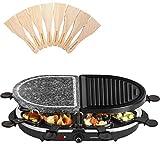 Best Raclette Grills - Andrew James Raclette Half Stone Half Metal Hot Review