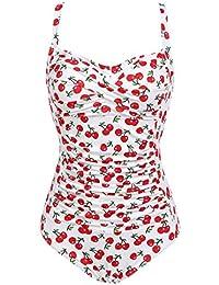 36b99cec502a6 Lonlier Damen Badeanzug Push Up Vintage Bauchweg Sexy Frauen Bademode  Monokini Tankini Strand…
