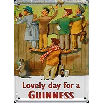 GUINNESS RUGBY Small Vintage Metal Tin Pub Sign