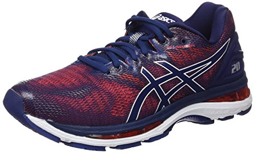 Asics Gel Nimbus 20, Zapatillas de Running Para Hombre, Multicolor (Indigo Blue/Indigo Blue/Fiery Red 4949), 48 EU
