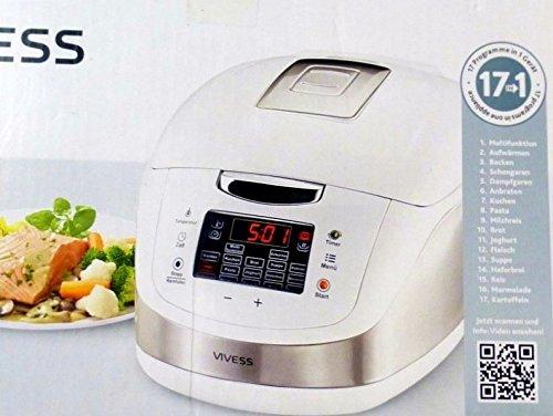 17 in 1 Multikocher Universalkocher Wertiger Kocher Weiss Ofen Friteuse Dampfgarer
