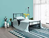 H.J WeDoo Black Single Metal Bed Frame in Strong structure 3FT Bedstead Bedroom Suit for 90x190cm Mattress