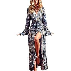 Pretty-Boho - Vestido - para mujer azul Lago Azul Talla única